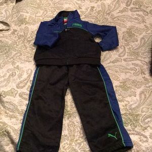 Puma jogger set. Blue and black. 24 months